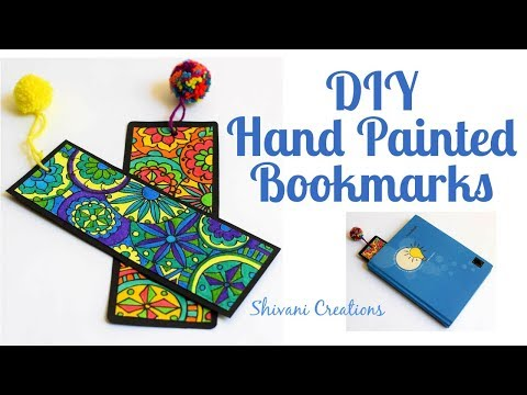 DIY Bookmark/ How to make Hand Painted Bookmark/ Handmade Gift for Teacher