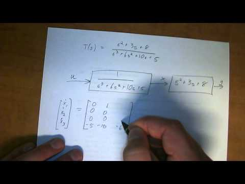 transfer function to State Space example 2
