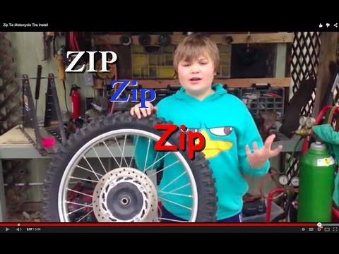 Clever Zip Tie Motorcycle Tire Install