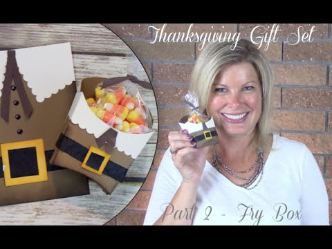 Part 2: How to make a Thanksgiving Pilgrim Gift Set - Stampin Up French Fry box