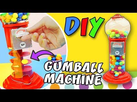 DIY SPIRAL GUMBALL MACHINE from Cardboard - M&M`s Candies Machine | aPasos Crafts DIY