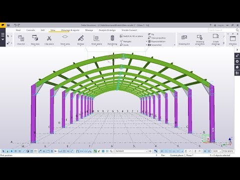 How to create a Curved rafter Portal frame   Tekla Structures 2017i