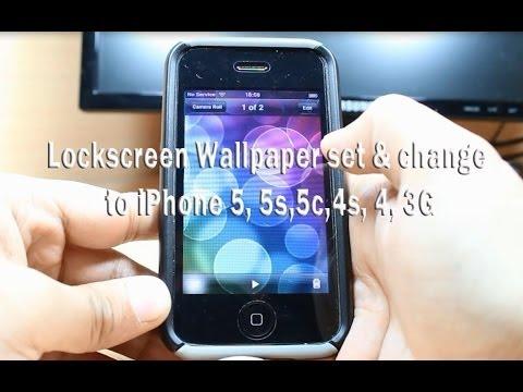 Lockscreen Wallpaper set & change to iPhone 5, 5c, 4s