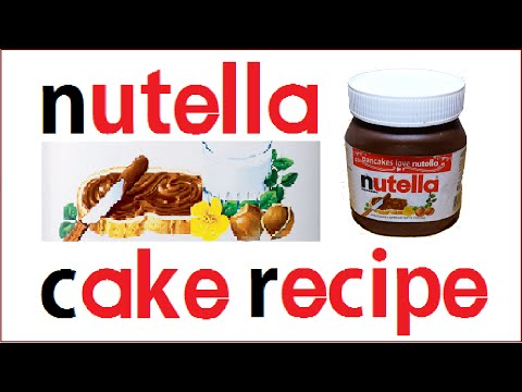 Chocolate Nutella Jar Cake Recipe