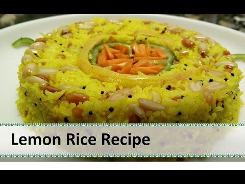 Lemon Rice Recipe   South Indian Dish   Rice Recipes Indian by Healthy Kadai