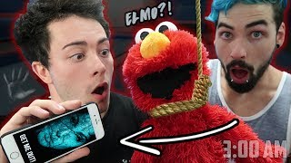 (SIRI INSIDE ELMO) DO NOT PLAY WITH ELMO AND SIRI AT 3 AM | ONE MAN HIDE AND SEEK WITH SIRI AND ELMO
