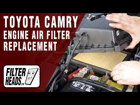 How to Replace Engine Air Filter 2012 Toyota Camry V6 3.5L