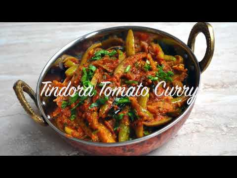 Tindora Curry-Sweet&Sour Tomato-Coconut Tindora  (Tindora/Tendli/Giloda/Ivy Gourd/ Dondakaya recipe)