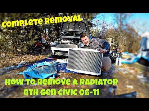 Honda Civic 2006-2011 Radiator Removal And Replacement DIY