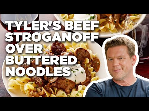 Tyler's Beef Stroganoff over Buttered Noodles | Food Network