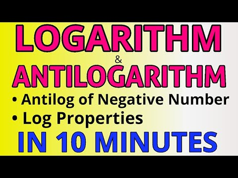 Logarithm & Antilogarithm | Antilog of Negative Number