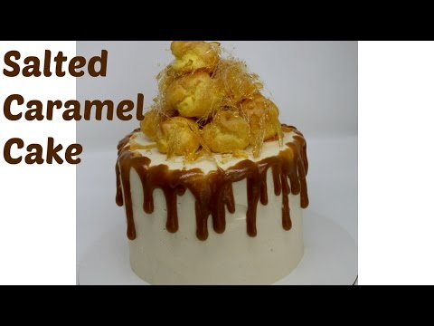 Salted Caramel Croquembouche Drip Cake