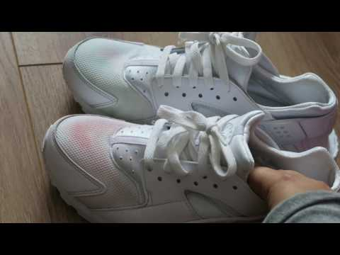 Stain removing on white huaraches with Vanish *FAIL*