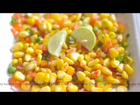 chipotle corn salsa recipe   chipotle recipe veg   corn recipes   TASTY FOODS   4K