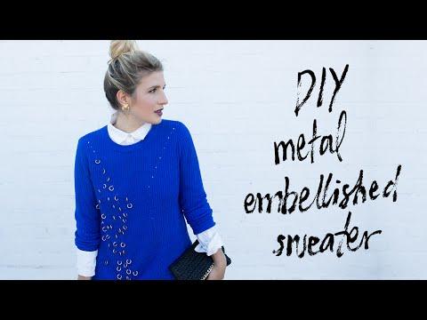 DIY Metal Embellished Sweater