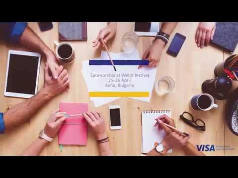 Visa Webit festival sponsorship Bulgaria 2017