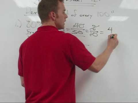 Skill Worksheet # 11:  Percents, Decimals, and Fractions tutorial