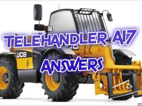 Telehandler A17 Answers