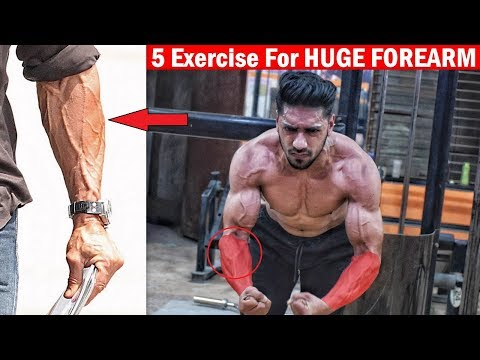 HUGE FOREARM WORKOUT | Top 5 Forearm Exercise at Home/Gym