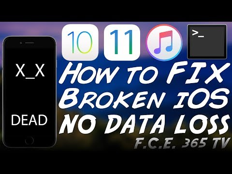 How to Fix iPhone in Recovery Mode / Broken iOS / Bootloop with No Data Loss