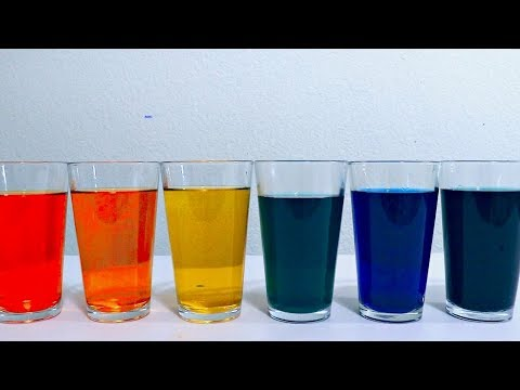 Learn Primary and Secondary Colors with Colored Water For Toddlers and Babies