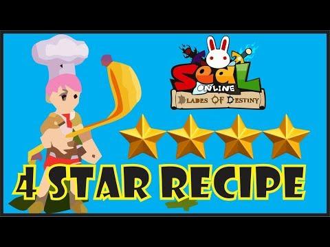 Skill 4 Star Book Recipe Chef - Seal Online BOD