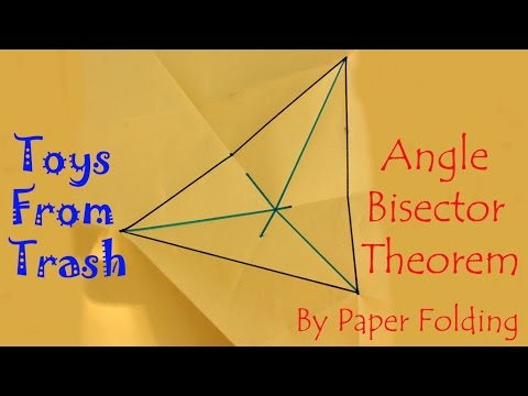 Angle bisector therom by paper folding | English