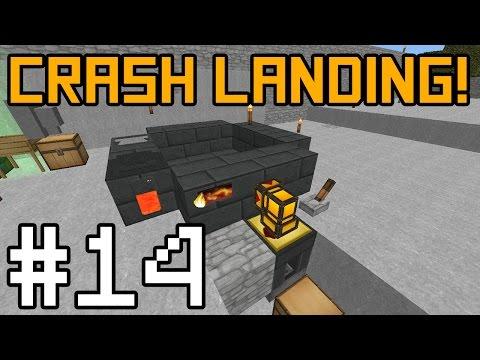 Minecraft Crash Landing - Automatic Smeltery! #14