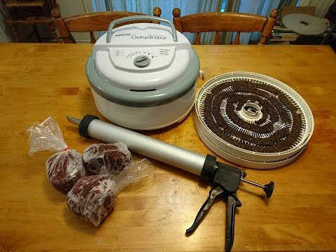 Making and Dehydrating Jerky  (ground Venison)