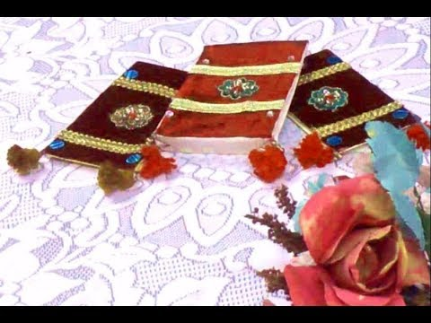 DIY traditional shagun (auspicious money) bag from an old wedding card