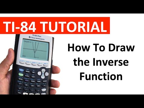 Drawing the Inverse Function on the TI-84 Graphing Calculator