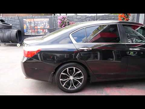 2017 HONDA ACCORD WITH 17 INCH BLACK & MACHINED RIMS & TIRES
