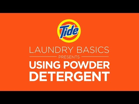 Tide Powder | Laundry Tips: How to Use Powder Detergent