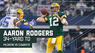 Aaron Rodgers Tosses 34-Yard TD on Opening Drive   Packers vs. Cowboys   NFL Divisional Highlights