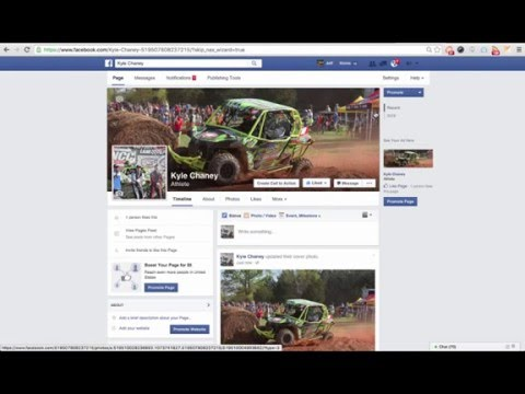 How to create a Facebook Fan (Athlete) Page