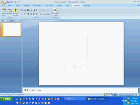 Inserting/ Embedding Youtube Video inPowerPoint 2007
