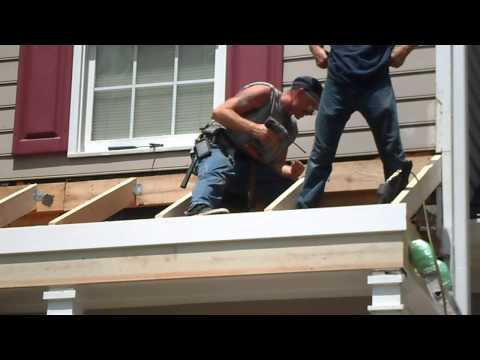 Porch/Roof Re-build Rain-Go Exteriors Roofing,Siding,Gutters