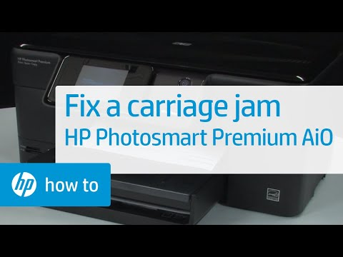 Fixing a Carriage Jam - HP Photosmart Premium All-in-One Printer (C309g)