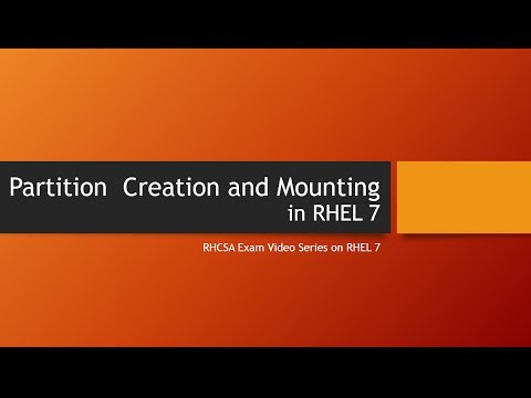 Creating new Partition and Permanent Mounting in RHEL7