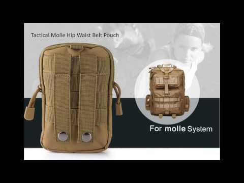 Tactical Molle Hip Waist Belt Pouch