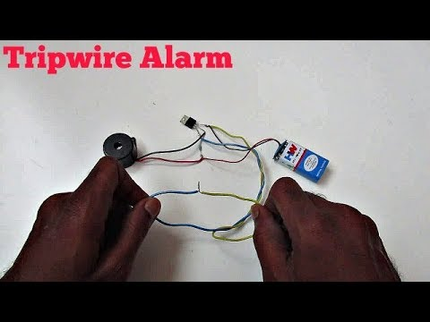Tripwire Alarm - How to make a Tripwire Security Alarm using a Transistor (Very Easy)