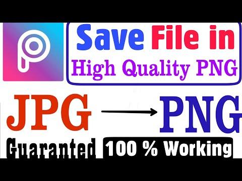 Picsart jpg to png save