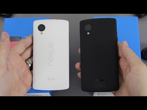 Google Nexus 5 (White AND Black) Unboxing and First Look!