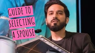 Guide to selecting your spouse (4mins) A MUST C! Saad Tasleem