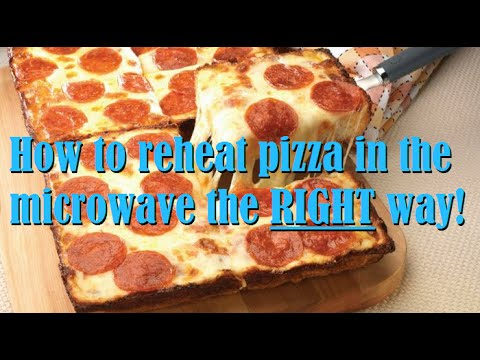 How To Reheat Pizza In A Microwave, PROPERLY.
