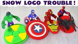 Avengers Hulk Spiderman Iron Man & Captain America Play Doh Snow Logo Trouble Thomas The Train TT4U