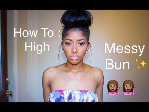 How to: High Messy Bun with Clip-in Hair Extensions | raquelbianka