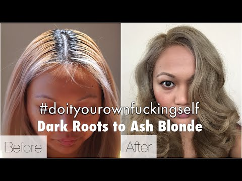How To Get Ash Blonde Hair Starting From Black / Dark Haired Roots