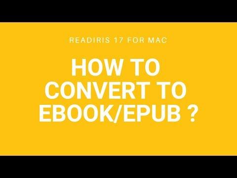 Readiris 17 Mac: Convert to Ebook/epub