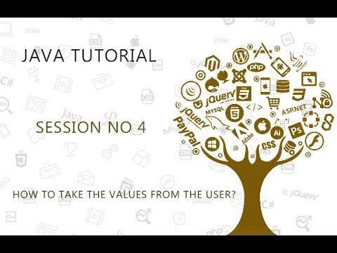 JAVA TUTORIAL  4  HOW TO GET THE VALUES FROM THE USER